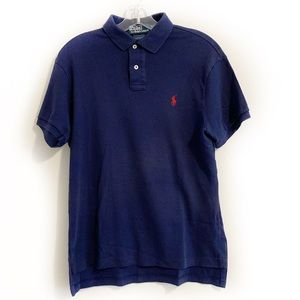 Polo by Ralph Lauren Navy Blue Jersey Polo Shirt